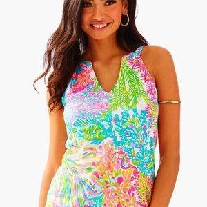 Lilly Pulitzer Arya Top Multi Lovers coral XXS